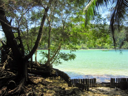 Pulau Sapi. Kota Kinabalun edustan saarista se kaikista kaunein, mutta huonoimmat snorklausvedet.