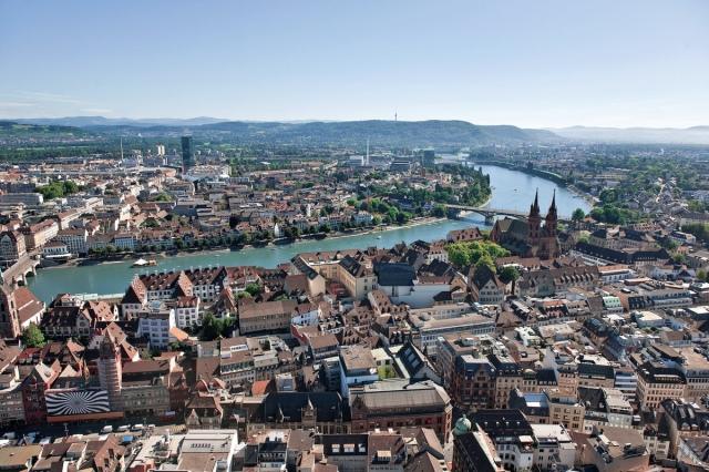 Luftaufnahme von Basel_(c) Basel Tourismus